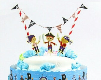Pirate Cake Topper Kit, Pirate Party, Pirate Theme, Pirate Cake, great little Pirate Cake Topper Kit, aaaargh me matey!