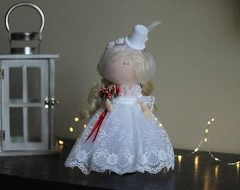 Baby dolls Art doll Decor doll  Soft decor Handmade doll Fabric doll Tilda doll Textile doll Cloth doll Bride doll Gift doll Interior doll