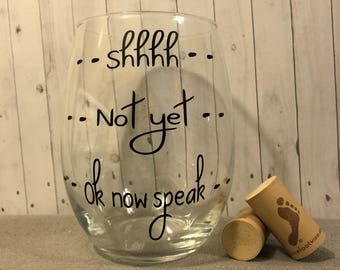 Funny Teacher gifts, birthday gifts, gifts for her, funny wine glass, good day bad day glass
