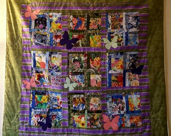 Butterfly Quilt ready to ship