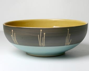 Hand-pottered salad bowl, for fruit, gifts for you