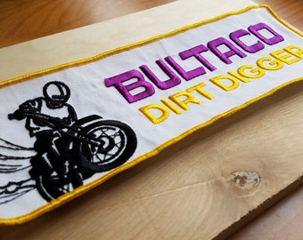 Butalco Dirt Digger 1970s Vintage Motorcycle Patch