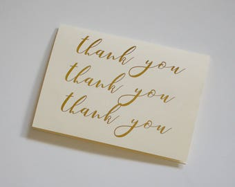 Script thank you cards | Handmade flower note card set with envelopes