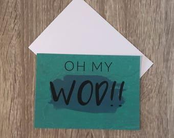 OH MY WOD!! Crossfit card | Greetingcard
