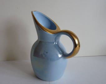 Blue and gilt jug