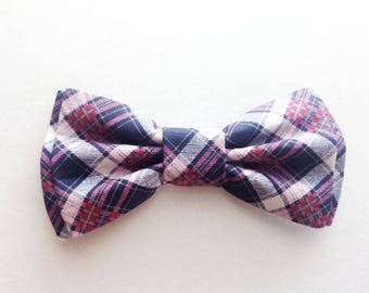 Bow Tie, Mens Bow Tie, Dad and Son Bow Ties, Pink Plaid Bow Tie, Father Son Bow Ties, Groomsmen Bow Tie, Pink Bow Tie,  Boys Bow Tie  DS723