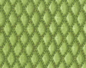 SALE Tonal Olive Green Diamond Basket Weave Overall Pattern Tends Toward Quilting Weight Cotton Patty Reed for Fabric Traditions