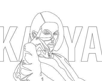 Katya Zamolodchikova Digital Art Sticker | January Paper Co
