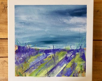 Lavender-Acrylic painting of French Lavender Fields