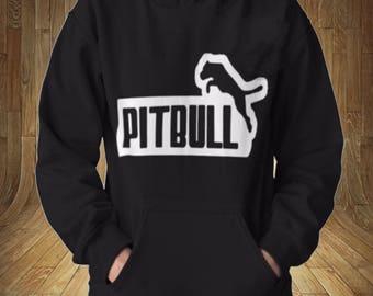 Pitbull Leaping Famous Puma Logo Mockery Sweatshirt Hoodie