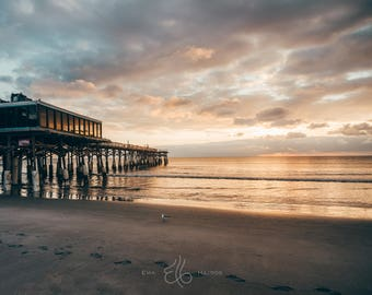 Florida Prints / Photography Prints / Florida Photo / Cocoa Beach Pier / Florida Sunrise / Florida Print / Prints Wall Art / Fine Art Photo
