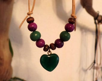 Necklace-Relaxing anxiety solver-Aventurine, Sugilite