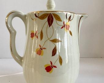 Vintage Hall Jewel Tea Autumn Leaf Coffee Pot