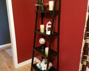 Black 4-tier Ladder Shelf/bookcase