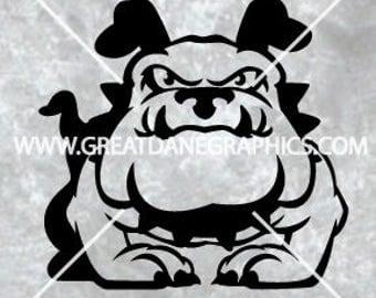 Bulldog SVG, Cartoon dog SVG, Dog SVG, svg file for cricut, dog vector