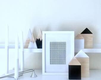 mi+my wooden house decor (set of 2)