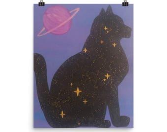 Cosmic Cat Galaxy Poster