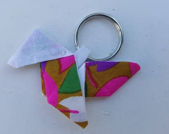Multicolor silk origami earrings