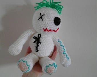 funny Voodoo doll crochet 25cm