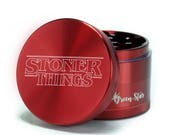 Herb Grinder Weed Grinder - Stoner Things - Stranger Things - Custom Grinder 4 Piece Herb Grinder