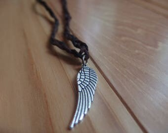 wing braided necklace