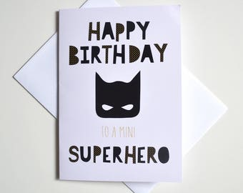 Greeting Card - Mini Superhero