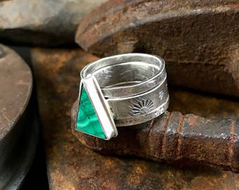 Malachite stackable rings