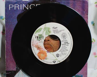 Prince (7 inch) Record  When the Dove Cry / 17 Days -  (German Pressing)  45 rpm picture sleeve