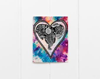 Love Cards/Bulk buy cards/Bundle buy cards/ Multi buy cards/Valentines Day Cards/Set of 6 Elephant Notecard/ Elephant Gift/ 6 card pack
