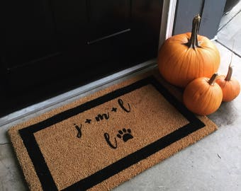 Personalized Family Coir Doormat