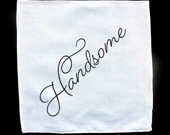 Handsome White Handkerchief