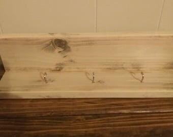 Wood key shelf