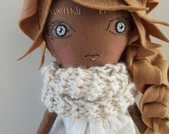 Handmade Doll 17 Inch / Fabric Doll / Cloth Doll / Heirloom Doll