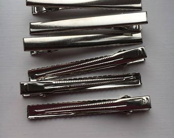 Alligator clips 75mm by 8mm approx 10 per order