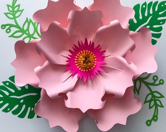 SVG Paper Flower Template DIGITAL Version - The Exotic Hibiscus - #71 - Cricut and Silhouette Ready