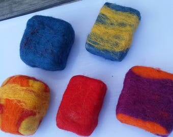 FELTED SOAP, 100% WOOL