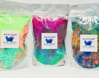 Super Cheap! 1, 3 or 5, 10+ oz Bath Bomb Confetti Gift Bag Sets. Good for up to 3-5 Baths per Bag. Perfect Easter Gift.