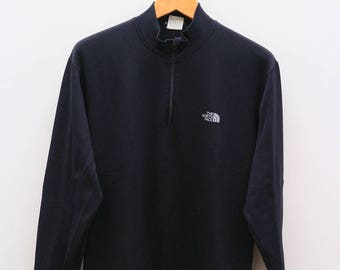 Vintage THE NORTH FACE Outdoor Sportswear Black Sweater Sweatshirt Size L