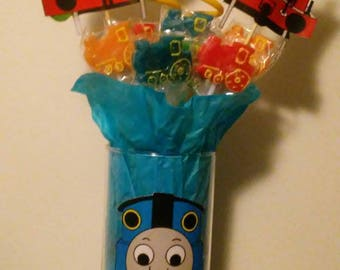 Character themed candy bouquets will customized to almost anything. Just ask me.