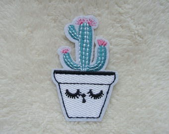 Cactus Patches Plant Patch Applique Embroidered Iron on Patch