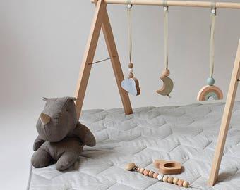 Sky Reach Baby Gym - Baby Gym - Activity Gym - Gimnasio para bebé - Wooden Baby Gym - Wooden Mobile -Gimnasio de actividades - Babyplaygym