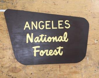 Angeles National Forest Entrance Sign