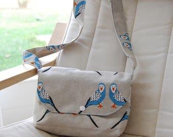 Messenger Bag for Girls | Ice Cream Pattern | Girl Gift Idea | Birthday Gift Idea