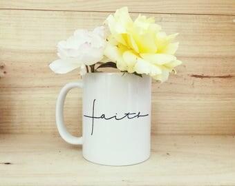 Faith Mug   Jesus Lover Mug   Christianity   Christian Gift   Coffee Mug   Palmzy   Gift for Her   Gift for Coffee Lover   Coffee