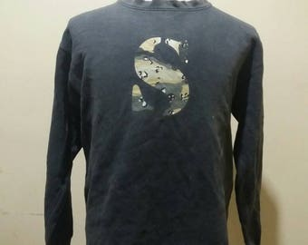 Vintage stussy camo rare sweatshirts