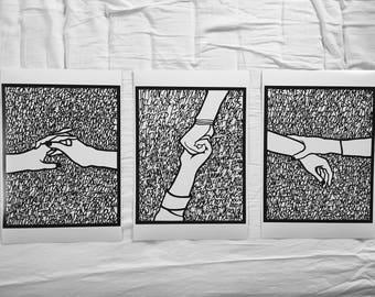 paper cut song interpretation prints - twenty one pilots