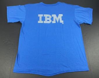 Vintage 80s United Way t-shirt mens XL IBM Computers paper thin