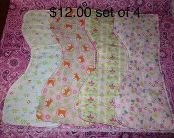 Foxy Burp Cloth Set