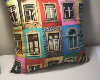 Portugal EnchDK colored House pillow