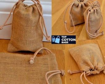 10pc Jute Hessian Small Pouch Gift Plain Promotion Craft Drawstring Wedding Lace Mini Eco Burlap Party Favour Jewelry Bag